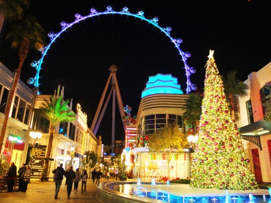 Christmas on the LINQ Promenade in Las Vegas