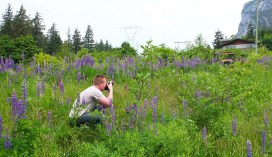 Me taking a photo of my boyfriend taking photos.
