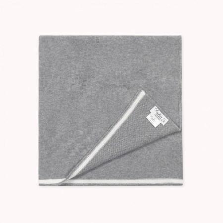 Fagiolino Caschmere Coccole Blanket Zeno Grey