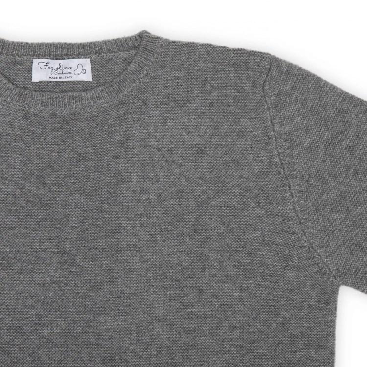 cashmere sweater unisex detail