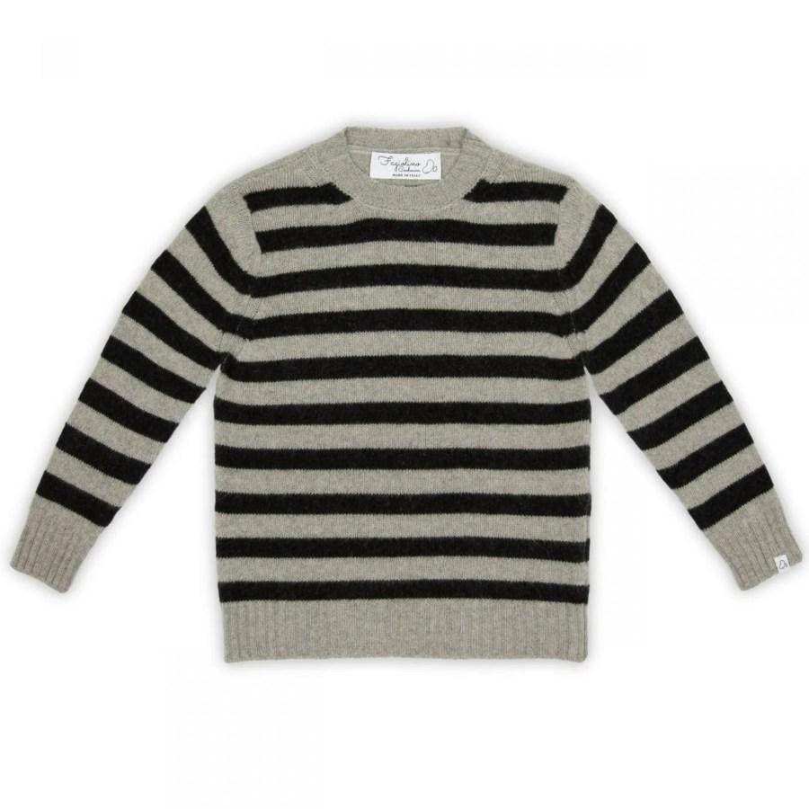 Fagiolino Cashmere Cittino Sweater Stripes