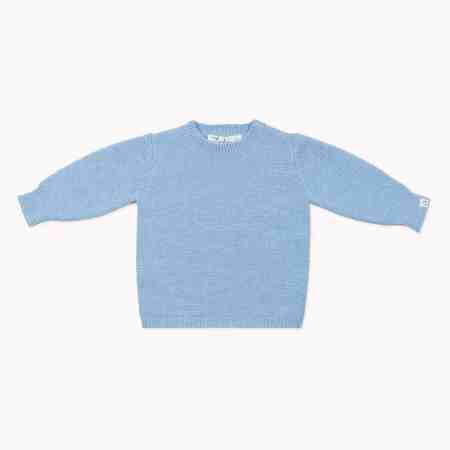 Fagiolino Cashmere Cittino Sweater Celeste Blue