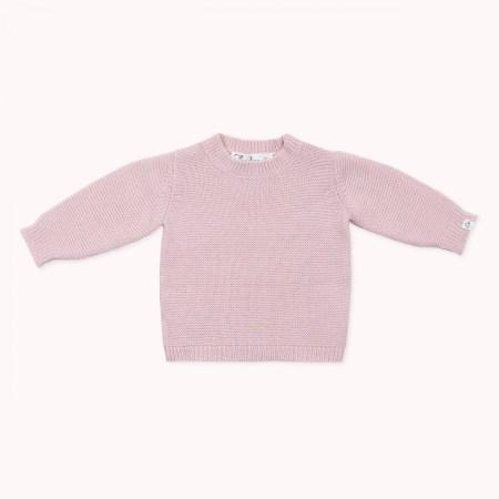 Fagiolino Cashmere Cittino Sweater Petal Rose
