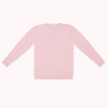 Fagiolino Cashmere Cittino Sweater Unisex Petal Rose