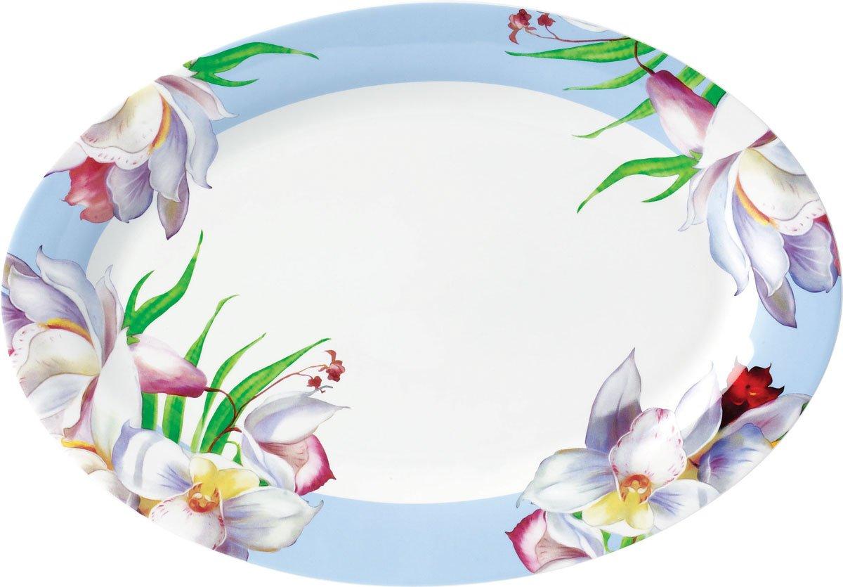 Flower porcelanski set za ručavanje ovalna tacna