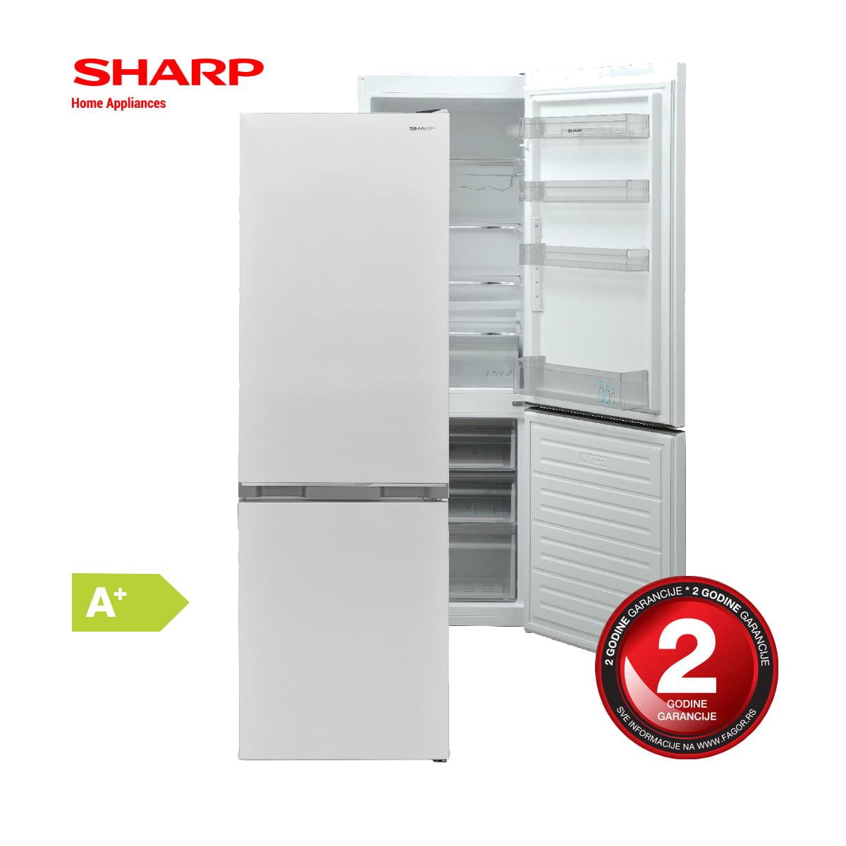 Kombinovani frižider Sharp 268 l (184+84) SJ-BB04DTXWF