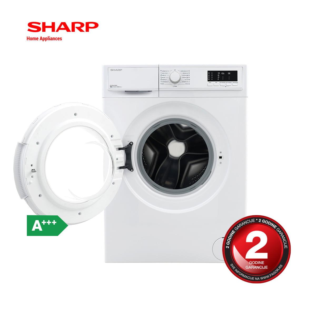 Sharp veš mašina 6kg – ES-HFA6103WD opis 2