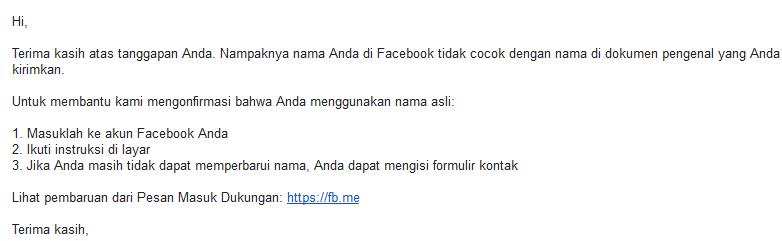 mengaktifkan akun facebook yang diblokir