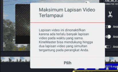 maksimum lapisan video terlampaui
