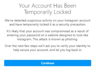 Cara Mengatasi Instagram Your Account Has Been Temporarily Locked