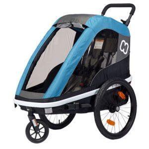 HAMAX Avenida twin 2 Sitzer Kinderfahrradanhänger 2021 Petrol Blau