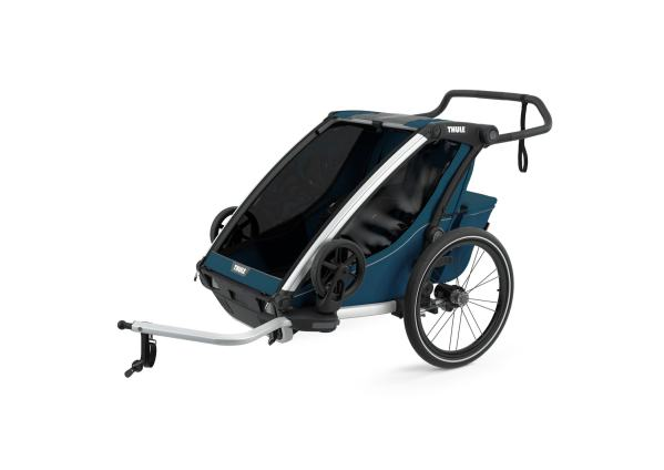Thule Chariot Cross2 MajolicaBlue mit Deichsel