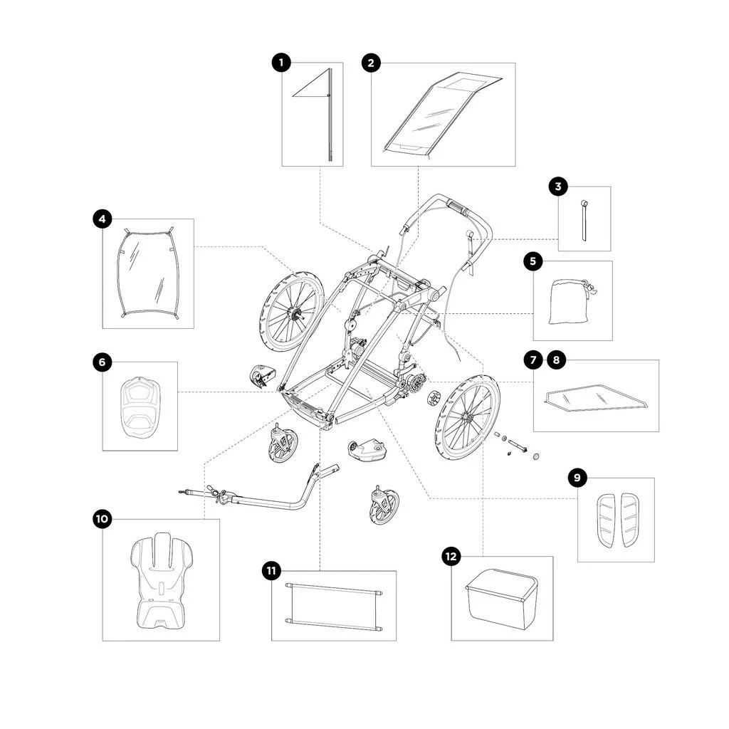 Chariot Sport 2 | Ersatzteile 1
