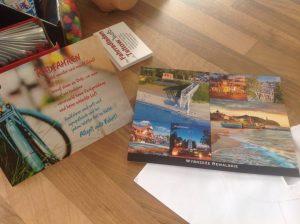Karte für den Urlaub und Karte aus dem Urlaub
