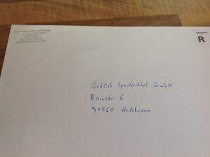Brief an Ortlieb
