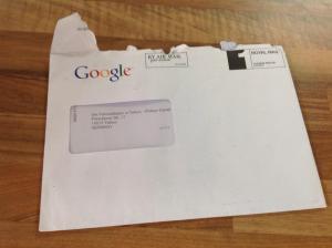 Brief von Google