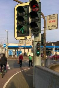 Neue Fahrrad-Ampel Kreuzung Saarstraße Mainz