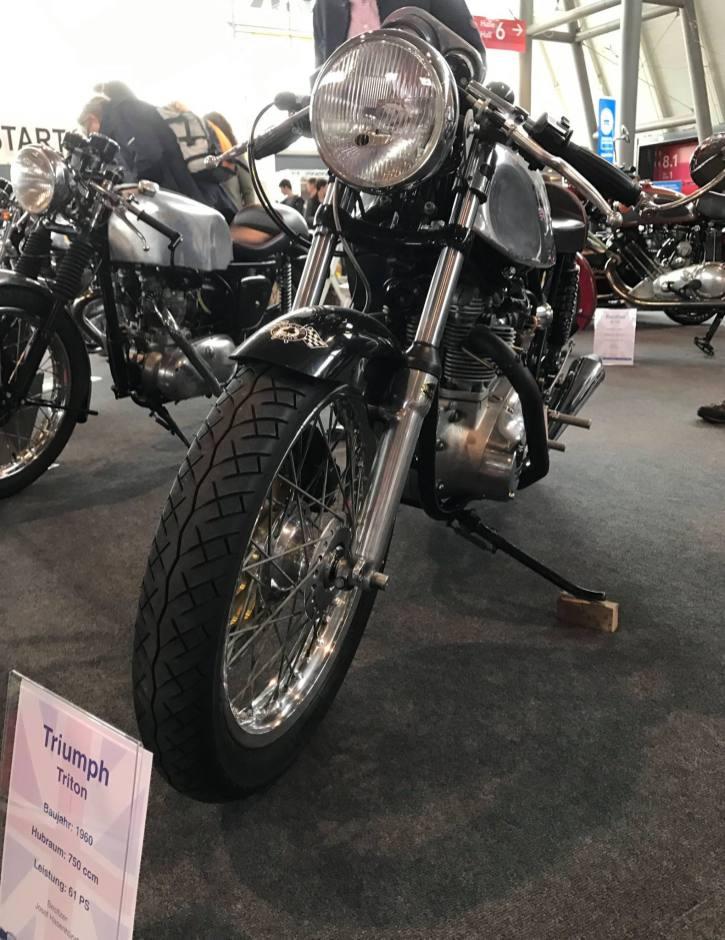 Oldtimer Motorrad der Marke Triumph