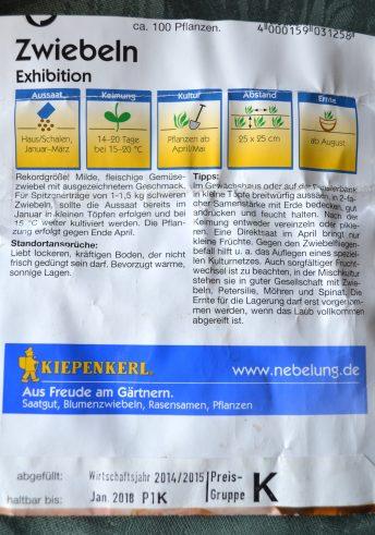 """Infos zur Gemüsezwiebel """"Exhibition"""""""