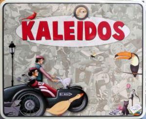 Pas de nom sur la boite de Kaleidos, et les rôles de l'auteur et des illustrateurs, sans lesquels ce jeu n'existerait pas, sont détaillés au dos.