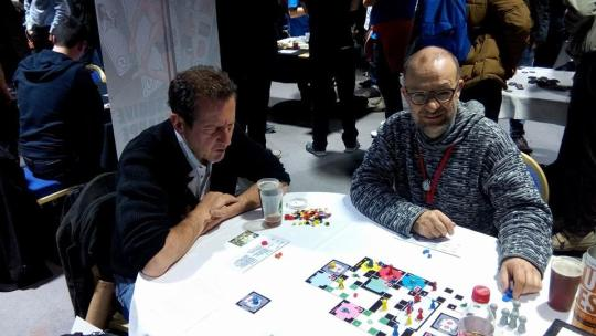 Near final prototype, with Serge, at the 2015 Cannes game fair