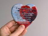 Faïence personnalisée Coeur 10 cm