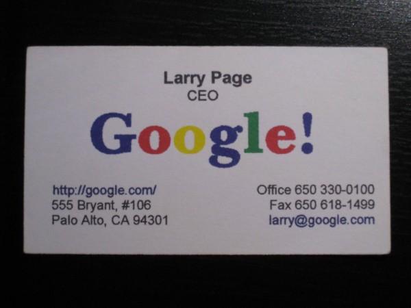 google business card circa 1998