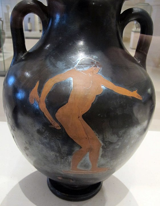 A woman with a dildo. Red figure amphora attributed to the Flying-Angel Painter c. 490 BC; City of Paris Museum of Fine Arts