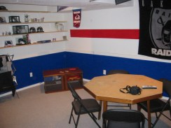 A view of my Cubs themed basement