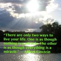 Einstein Quote: On Living Life...