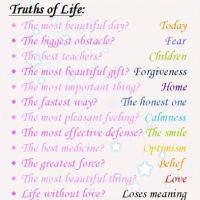 Truths of life – beautiful thoughts…