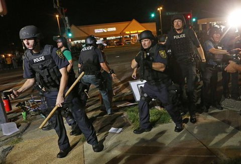 Ferguson aggressive and violence cops