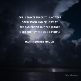 martin luther king Silence of goodpeople
