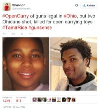 Murdered by trained and armed cops for carrying a toy gun in a playground and in Walmart