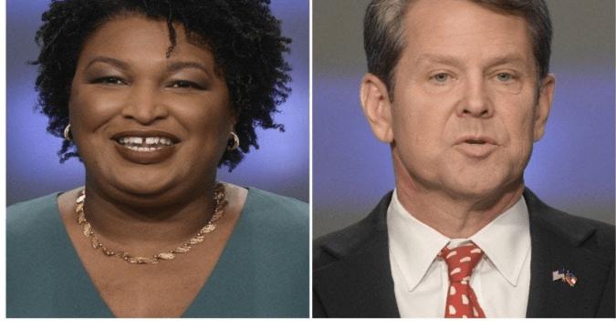Georgia gubernatorial candidates Stacey Abrams, left, and Brian Kemp on May 20 in Atlanta. (John Amis/AP)