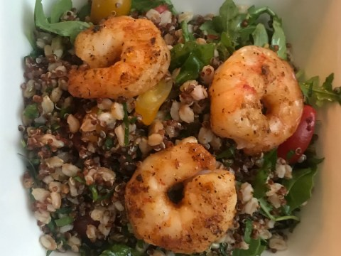 Atlanta-style: grains and shrimp