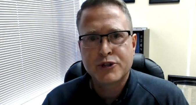 "Washington state Rep. Matt Shea acknowledged he had distributed a four-page manifesto titled ""Biblical Basis for War,"" which describes the Christian god as a ""warrior,"" details the composition and strategies of a ""Holy Army"" and condemns abortion and same-sex marriage. He's shown responding to criticism over the document in a Facebook Live video on Wednesday, Oct. 24, 2018."