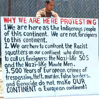 whywearehereprotestingsign