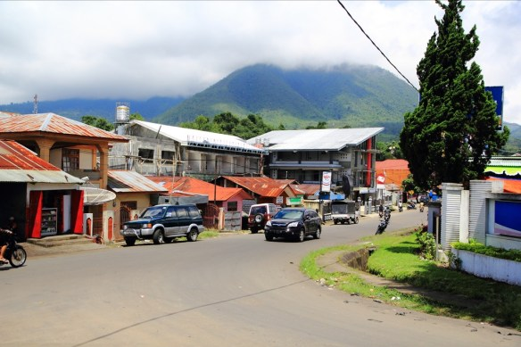 Scenic downtown Ruteng.