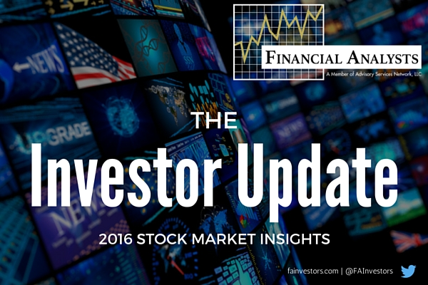Financial Analysts Investor Update January 8 2016, market strategy update