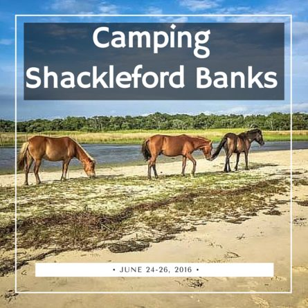 Camping Shackleford Banks 2016