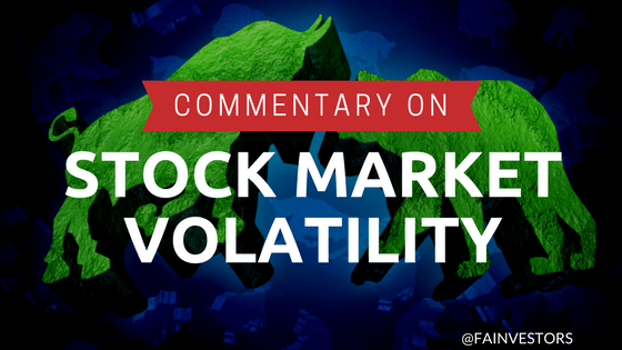 Stock Market Volatility: S&P 500 Market Commentary $spy #investing
