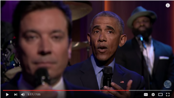 Barack Obama with Jimmy Fallon on the Tonight Show