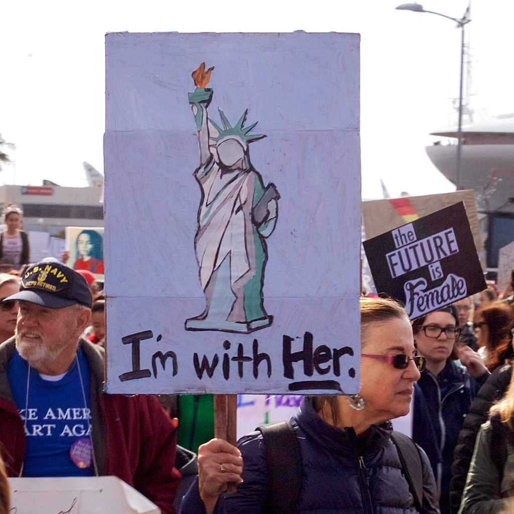 The kind of imagery David Brooks thinks you didn't see at the Women's March. (cc photo: Bonzo McGrue)
