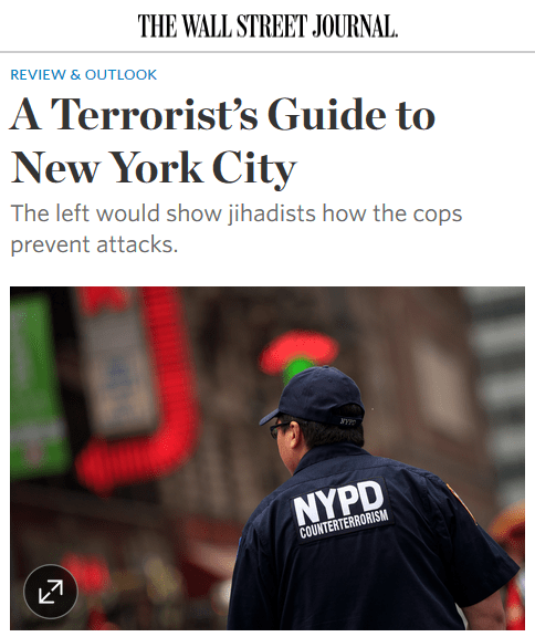 WSJ: A Terrorist's Guide to New York City