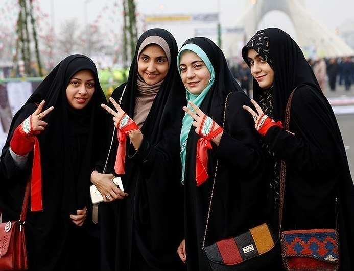 Young women in Iran