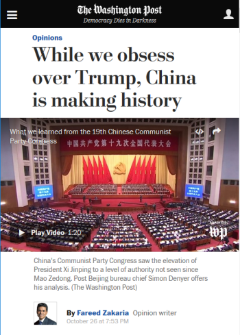 Washington Post: While We Obsess Over Trump, China Is Making History