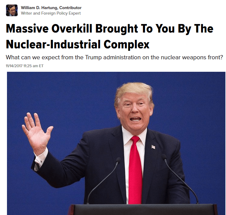 Huffington Post: Massive Overkill Brought To You By The Nuclear-Industrial Complex