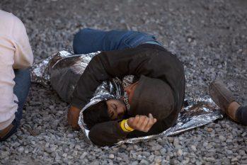 NYT photo of detainees housed under a bridge (photo: Tamir Kalifa)