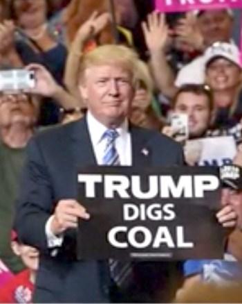 Trump Digs Coal